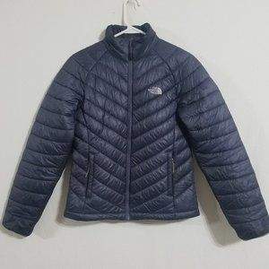 North Face Womens Small Blue Puffer Jacket Coat S